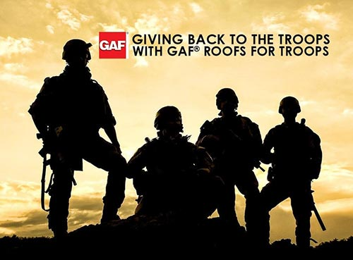 Giving Back to the Troops with GAF® Roofs for Troops